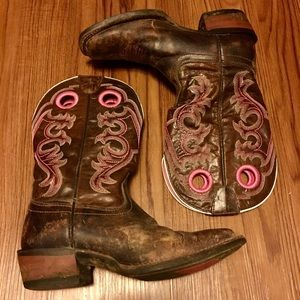 Ariat Brown with Pink Stitching